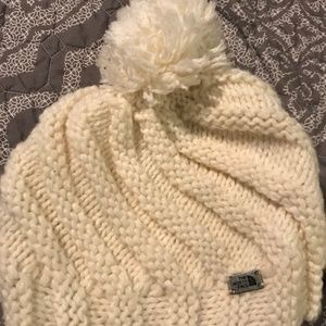 The North Face Knit Pom Hat - White